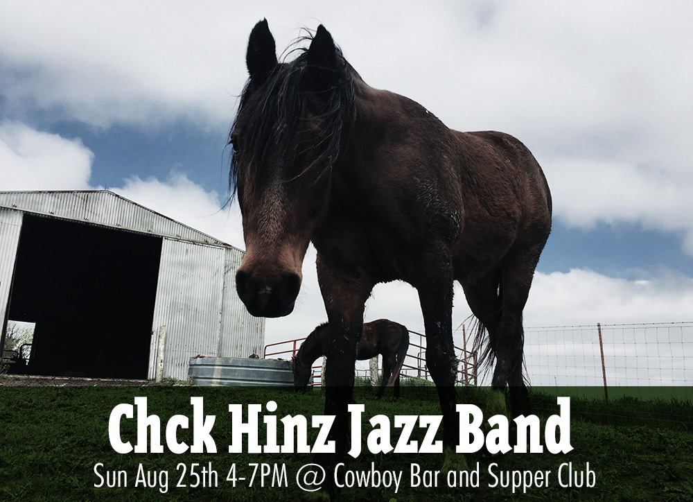 ON SUNDAY EVENING AT COWBOY BAR AND SUPPER CLUB IN FISHTAIL - Chuck Hinz Jazz Band